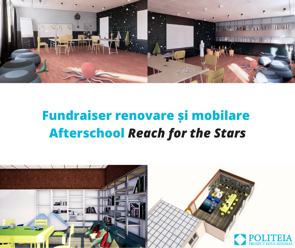 "Fundraiser renovare și mobilare Afterschool ""Reach for the Stars"""